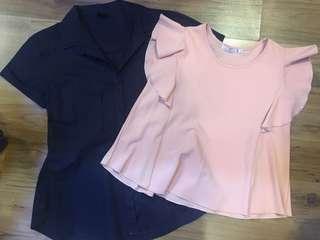 Buy 1 Get 1 Xoxo button down Liberte blush pink top
