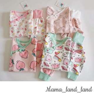 Lovely Chinese girlish cotton print baby / kid girl Pyjamas night wear ( Top + long pant @Set)
