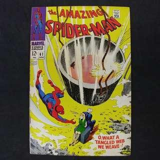 amazing Spider-Man #61 (1968) 1st Gwen Stacy Cover - Stan Lee story - Marvel Comics / Silver Age