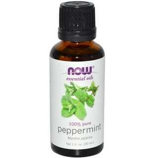 Now (USA) 100% Pure Peppermint Oil (30ml)