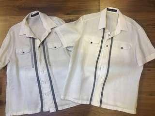 Onesimus White Polo Shirt Barong buy 1 get 1