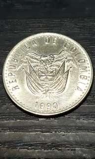 Columbia 50 Pesos Coin