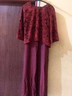 Baju muslim setelan dress