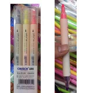 CHOSCH DUAL END HIGHLIGHTER PEN