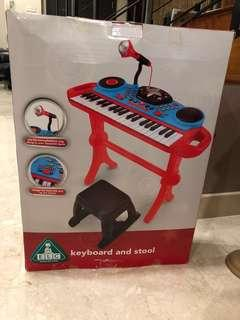 ELC keyboard / piano with stool