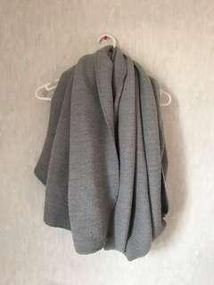 Oversized Grey Scarf