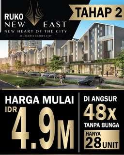 ruko new east jakarta garden city aeon cakung