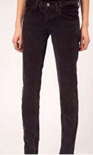 ONE TEASPOON - super skinny mid rise flat black jeans