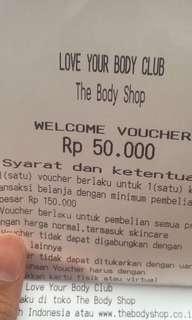 Voucher The Body Shop 50rb