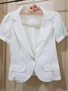White ribbon summer suit Top