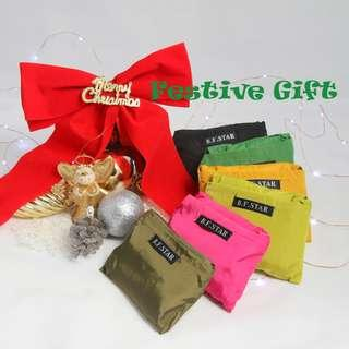 🚚 Festive Gift Suggestion: Dual colour foldable shopping bag (Army Green with Yellow)