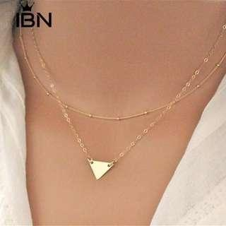 Triangle 2 layer necklaces