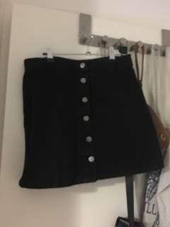 Black dotti skirt denim