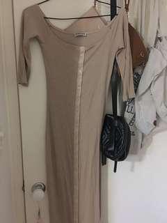 Nude fashion nova dress