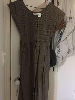 Vintage checkered midi dress