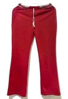 Dark Red Jogging Pants