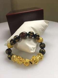 Double PIXIU bracelet for wealth & prosperity