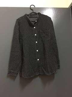Anaabu Embroidered Black Shirt