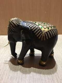 泰國木雕象 木雕大象 木雕象 木頭象 木象