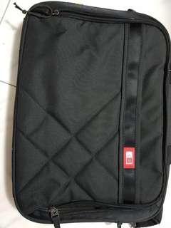 a black laptop briefcase
