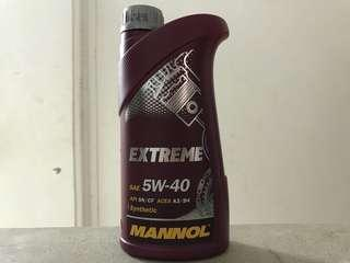 Mannol Extreme 5W-40 1 Liter Fully Synthetic Engine Oil