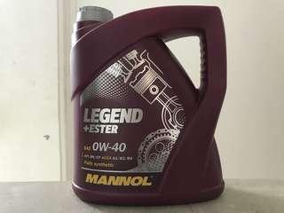 Mannol Legend+Ester 0W-40 4 Liters Fully Synthetic Ester Engine Oil
