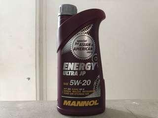 Mannol Energy Ultra JP 5W-20 1 Liter Fully Synthetic Engine Oil
