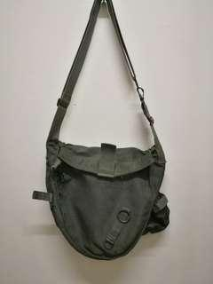 Vintage army mask bag