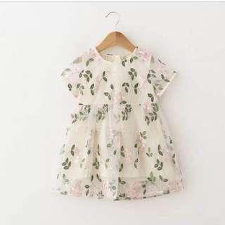 Dress flora vitalia - baju anak