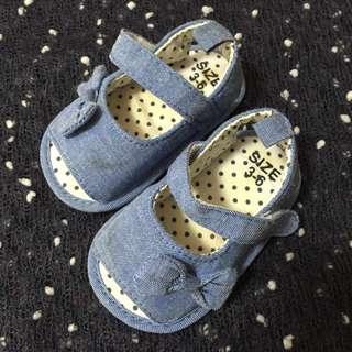 Baby Shoes 3-6months bb 鞋 牛仔布 10.5cm