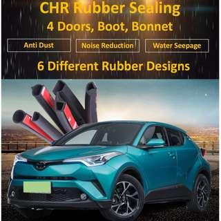 CHR Car Doors Rubber Sealing For Boot Bonnet Anti Dust Noise Reduction Water Seepage
