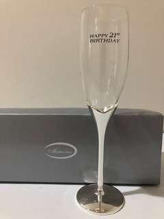 21st Wine Glass