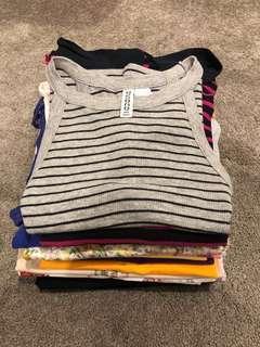 Stack of shirts/tank tops