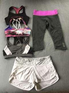 Bulk Size 6 XXS Lululemon Lorna Jane & Running Bare tights & crops