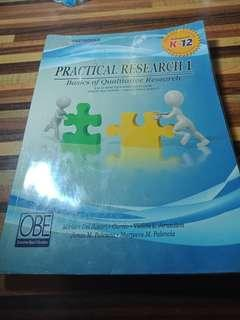 Practical Research 1: Basics of Qualitative Research