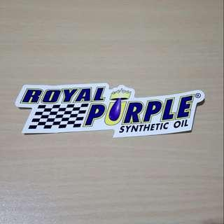🚚 Royal purple synthetic oil 貼紙