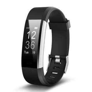 LETFIT Smart wristband pedometer for sports tracking, heart rate monitor