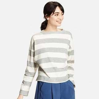 Uniqlo boat neck striped top