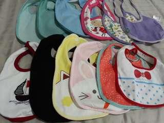 (Free Normal Mail)New & Pre❤ Baby Bibs 12pcs @ $8