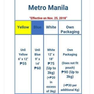 FASTRACK NEW RATES in MM