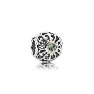 Authentic Pandora Spinel Openwork Lace Charm