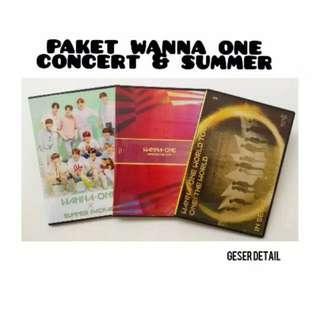 Paket copy original DVD konser dan summer packaged wanna one