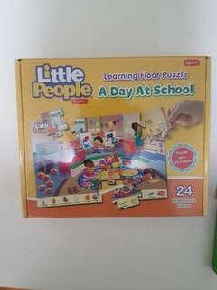 🚚 Fisher Price Little People Learning Floor Puzzle