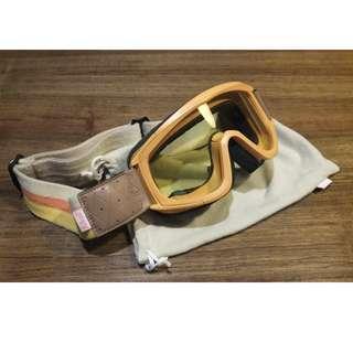 美國Biltwell Overland 黃色護目鏡(摩托車用)