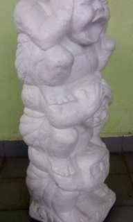 三不猴three monkey statues