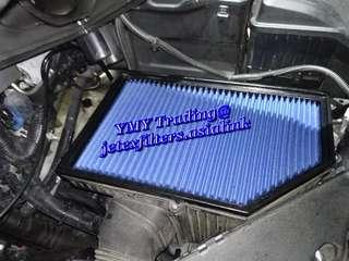 #jetexfilters_volvo. #jetexfiltersasialink. Volvo S60 T4 model on site replacement of jetex performance high flow air filter with 1.14 kpa flow rate washable & reusable .