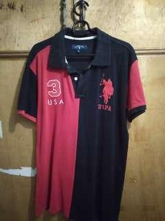 US Polo Black/Red Shirt