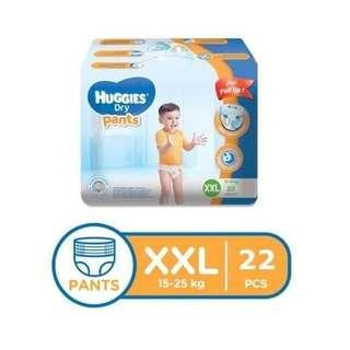 XXL 22PCS Huggies Dry Pants