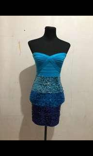Blue Sequenced Dress
