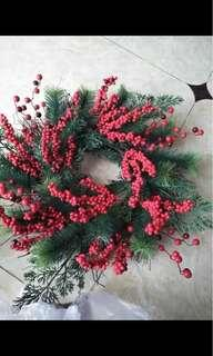 Christmas Berries Wreath 45 cm New